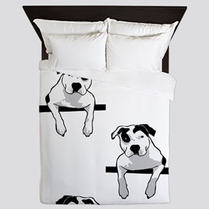 Pit Bull T-Bone Graphic Queen Duvet