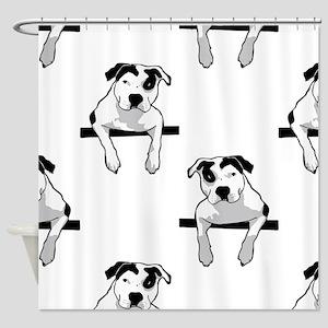 Pit Bull T-Bone Graphic Shower Curtain