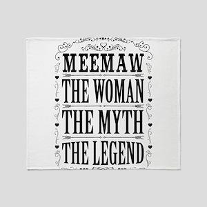 Meemaw The Legend... Throw Blanket