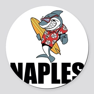 Naples Round Car Magnet