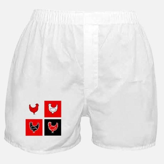 Unique Red bird Boxer Shorts