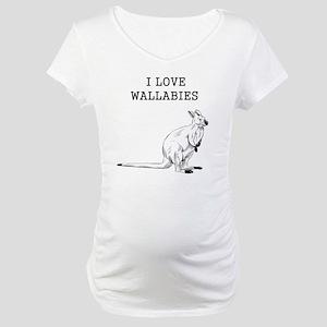 I Love Wallabies Maternity T-Shirt
