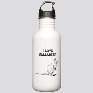 I Love Wallabies Stainless Water Bottle 1.0L