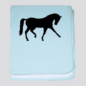 Dressage horse baby blanket