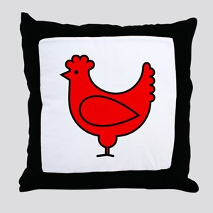 Little Red Hen Throw Pillow