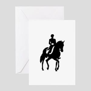 Dressage rider Greeting Card