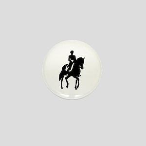 Dressage rider Mini Button