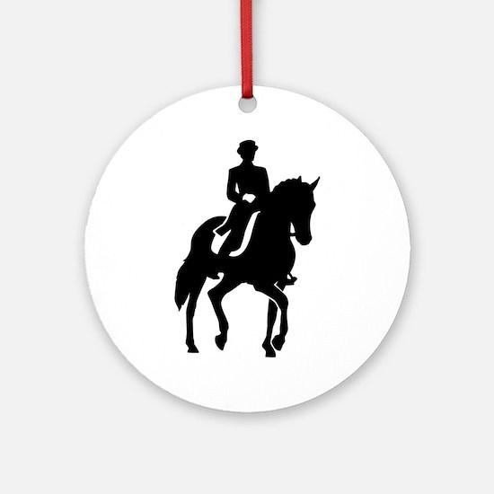 Dressage rider Round Ornament
