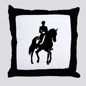 Dressage rider Throw Pillow