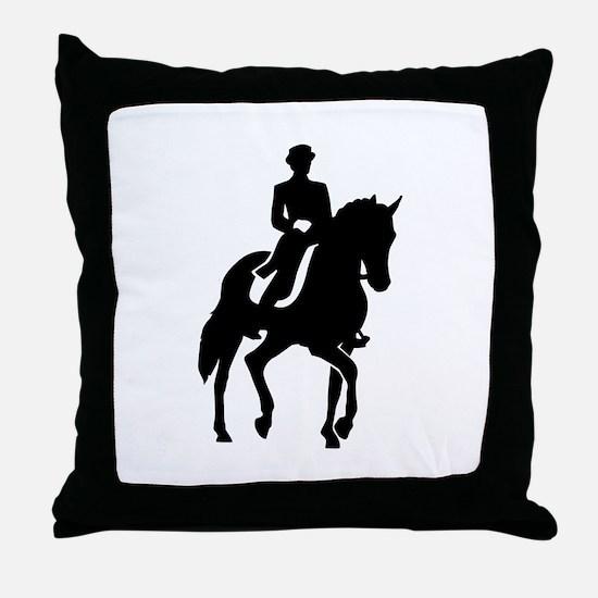 Dressage rider Throw Pillow