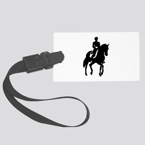 Dressage rider Large Luggage Tag