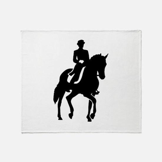 Dressage rider Throw Blanket