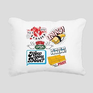 Friends Collage Rectangular Canvas Pillow
