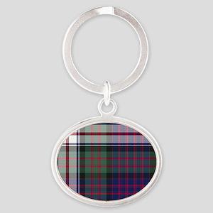 Tartan - MacDonald dress Oval Keychain
