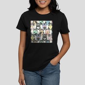 Hipster Cats Women's Dark T-Shirt