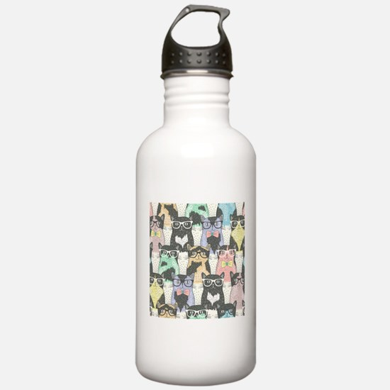 Hipster Cats Water Bottle