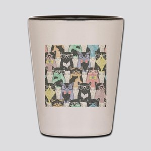 Hipster Cats Shot Glass