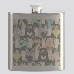 Hipster Cats Flask