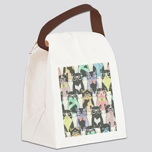 Hipster Cats Canvas Lunch Bag