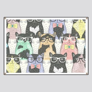 Hipster Cats Banner