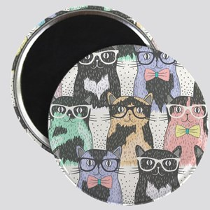Hipster Cats Magnet
