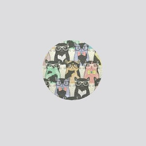 Hipster Cats Mini Button