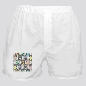 Hipster Cats Boxer Shorts