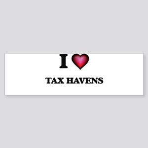 I Love Tax Havens Bumper Sticker