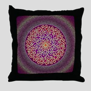 Sangria Celtic Art Burst Throw Pillow