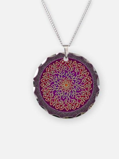 Sangria Celtic Art Burst Necklace