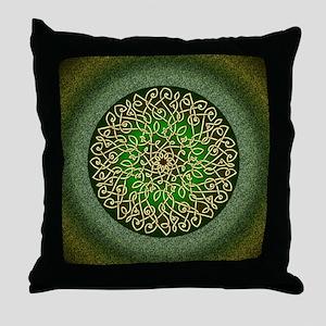 Sage Celtic Art Burst Throw Pillow