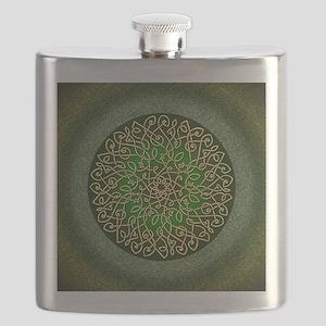 Sage Celtic Art Burst Flask
