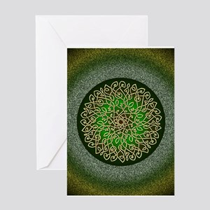 Sage Celtic Art Burst Greeting Cards