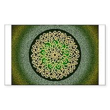 Sage Celtic Art Burst Sticker