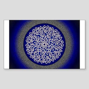 Blue Celtic Art Burst Sticker