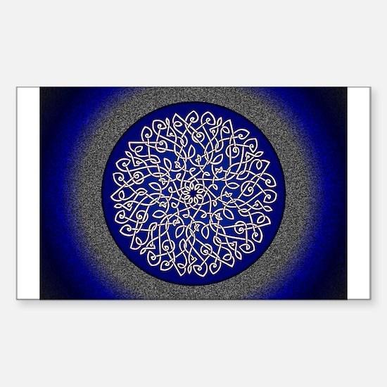 Blue Celtic Art Burst Decal