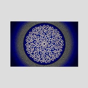 Blue Celtic Art Burst Magnets