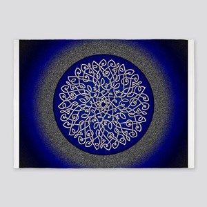 Blue Celtic Art Burst 5'x7'Area Rug