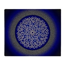 Blue Celtic Art Burst Throw Blanket