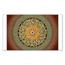 Autumn Celtic Art Burst Sticker