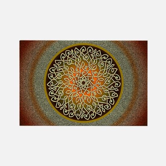 Autumn Celtic Art Burst Magnets