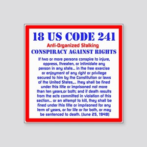 18 US CODE 241 Sticker