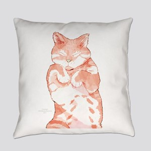 Peaceful Resting Cat - Holiday Everyday Pillow