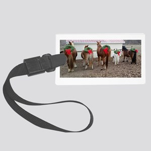 Christmas Horses Luggage Tag