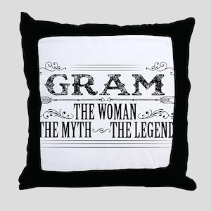 Gram The Legend... Throw Pillow