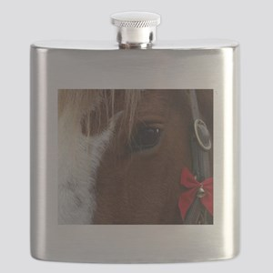Horse Christmas Bell Flask