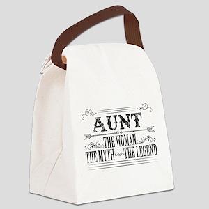 Aunt The Legend... Canvas Lunch Bag