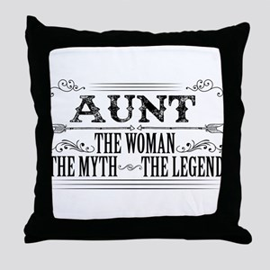 Aunt The Legend... Throw Pillow