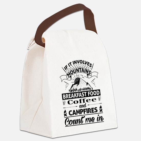 If it involves mountains... Canvas Lunch Bag