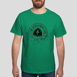 Appalachian Trail Eat-sleep-hike Dark T-Shirt